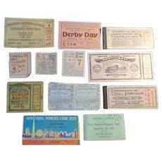 Tickets  1920s