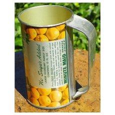 Advertising: Minute Maid Frozen Orange Juice tin - with Handle - Vintage