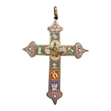 Micro Mosaic Bird Cross