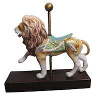 Splendid Cybis Porcelain Carousel Lion