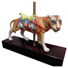 Striking Cybis Porcelain Carousel Tiger