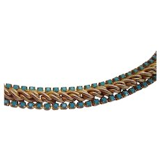Les Bernard Braid and Stone Necklace