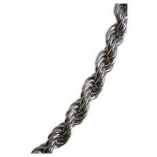 Exquisite Monet 25 Inch Silver Tone Necklace