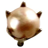 Mid 20th Century Cultured Pearl Tie Tac or Pin