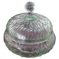 Art Deco glass Uranium Powder Jar