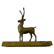 Circa 1860 A Handsome Stag Elk Desk Paper Weight for Office or Den