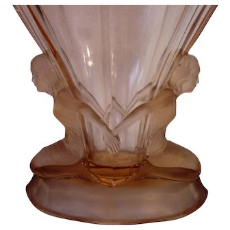 Exceptional  Art Glass Vase Walther Sohne, Germany