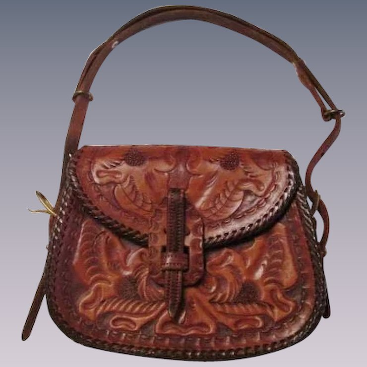 Hand Tooled Leather Purses From Paraguay Best Purse Image Ccdbb Ropin West Handbags