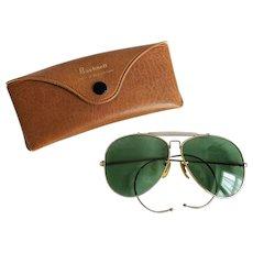 Vintage Aviator Sunglasses 1970s Bushnell Case Unisex Designer Eyewear - Red Tag Sale Item