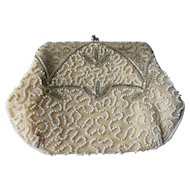 Daytons Art Deco Beaded Clutch Purse Vintage 1940s Bridal Wedding