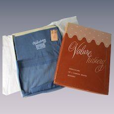 Blue Nylon Stockings Vintage 1960s Valure Deadstock NWT