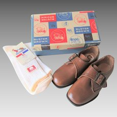 Deadstock Buster Browns Boys Shoes Shoebox Cotton Socks 6.5