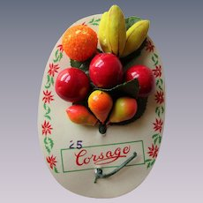 Fruit Millinery Corsage Vintage 1940s Deadstock Hat Decor Carmen Miranda
