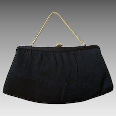 Black Evening Bag Vintage 1950s Clutch Purse Ande