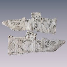 Antique Edwardian Shoe Covers Spats Crocheted Lace