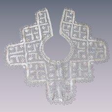 Antique Beige Lace Ladies Collar Floral Designs