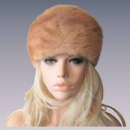 Vintage 1960s Mink Fur Hat Warm Winter Fashion New York Label