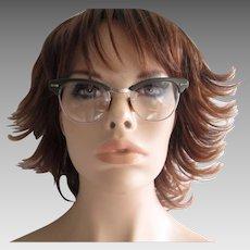 Cat Eye Glasses Eyeglasses Vintage 1950s Olive Green Frames