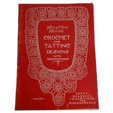 Antique Crochet Tatting Lace Book Patterns Instructions Winifred North 1915 Sewing
