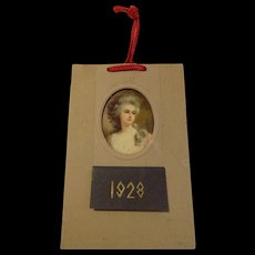 Beautiful Woman Portrait Vintage 1920s Full Year Calendar for 1928 - Red Tag Sale Item