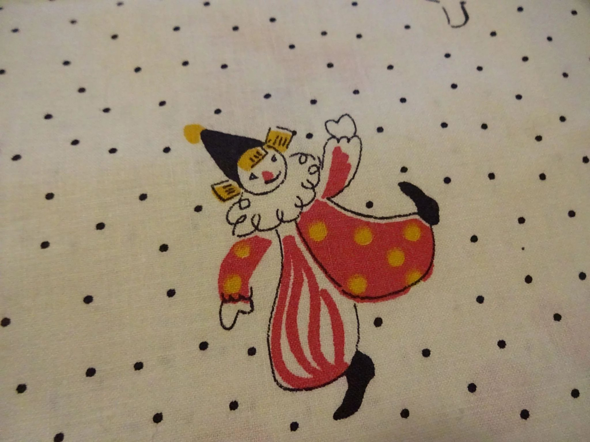Vintage 1950s childrens novelty print cotton quilting for Vintage childrens fabric prints