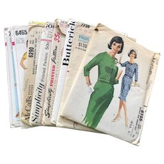 RESERVED Lot 8 Vintage 1950s 1960s Sewing Patterns
