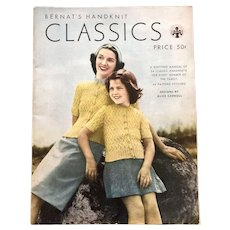 RESERVED Vintage 1940s Knitting Pattern Book