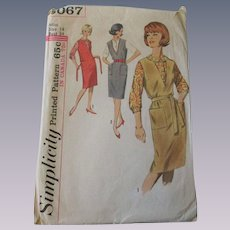 Jumper Blouse Sewing Pattern Vintage 1950s Simplicity 5067