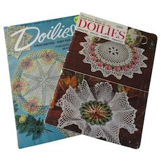 Crocheted Lace Doily Books Vintage 1940s Patterns Lot 2