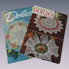 Crocheted Lace Doily Books Vintage 1940s Patterns Lot 2