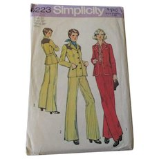 Western Pants Jacket Suit Vintage 1970s Simplicity Sewing Pattern 6223 Uncut