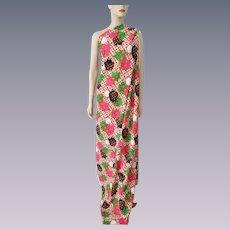 Vintage 1970s Fabric Bright Tulips Floral Hippie Flower Power Yardage