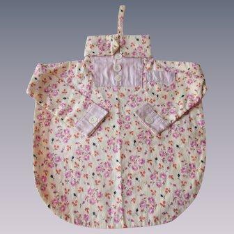 Floral Feedsack Shirt Bag Vintage 1930s Handmade Lavender Cotton