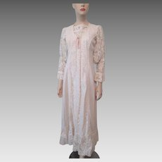 Gunne Sax Prairie Dress Vintage 1970s Gunnies Jessica McClintock Bohemian Wedding Coreset