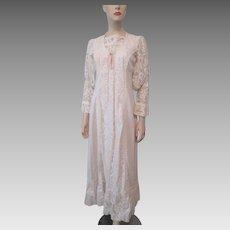 Gunne Sax Prairie Dress Vintage 1970s Gunnies Jessica McClintock Boho Bohemian Wedding Lace Corset