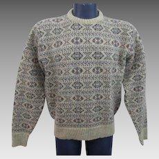 Mens Pullover Sweater Vintage 1970s Highland Glen Shetland New Wool XO