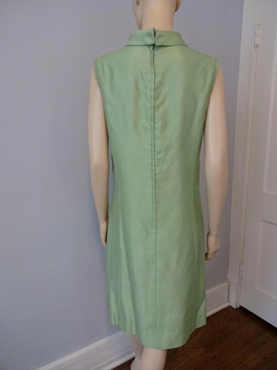 Mod Womens Green Dress Suit Jacket Vintage 1960s Lime Silk Lace Sold