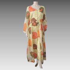 Designer Alfred Shaheen Jacket Pants Suit Vintage 1970s Hawaiian