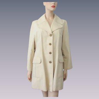 Beige Jacket Raincoat Vintage 1970s Womens Jonathan Logan