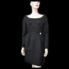Black Cocktail Dress Vintage 1960s Special Occasion Evening Wear