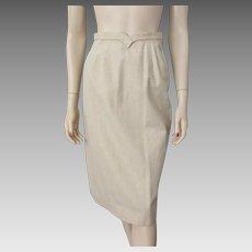 Beige Wool Pencil Skirt Vintage 1940s Dalton Coordinates