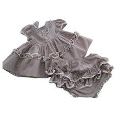 Girls Bloomer Frock Vintage 1950s Gingham Swing Dress Bloomers
