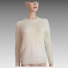 Pendleton Pullover Sweater Vintage 1970s Beige Virgin Wool Deadstock