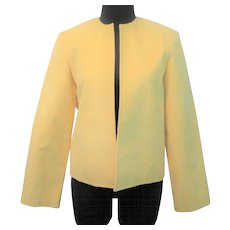 Yellow Ultrasuede Jacket Blazer Vintage 1970s Career Wear Samuel Robert