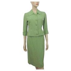 Womens Spring Vintage 1940s Suit Skirt Jacket Shantung