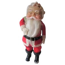 Santa Claus Doll Vintage 1950s Rubber Face 12 Inch Christmas Holiday Toy Display - Red Tag Sale Item