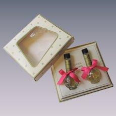 Lucien Lelong Miniature Perfume Bottles Vintage 1960s Gift Set