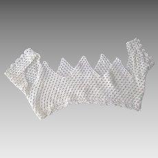 Edwardian Crocheted Lace Yoke With Sleeves