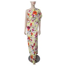 Floral Hawaiian Hibiscus Fabric Yardage Vintage 1970s 2 Yards