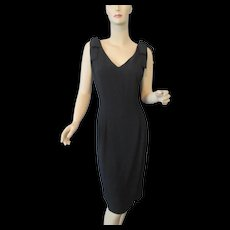 Hold For Kiernane: Black Cocktail Dress Vintage 1980s Jessica Howard Sleeveless Bows Evening Special Occasion